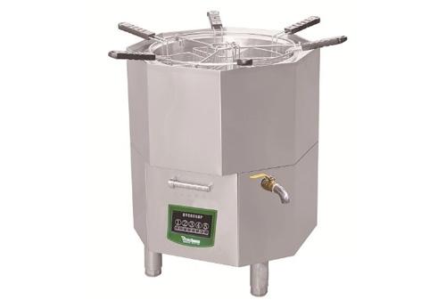 电磁圆形可旋转六格水饺煮面炉