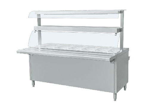 SF-双层玻璃罩五格售饭台